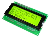 20-character 4-line, LED backlit LCD