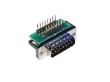 D-Sub Adapters, 15-pin plug, right-angle