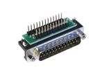 D-Sub Adapters, 25-pin plug, right-angle