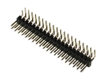 header, male, dual row, right-angle, 40-pin