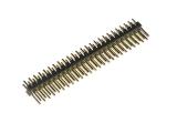 header, dual-row, 50-pin, male, straight